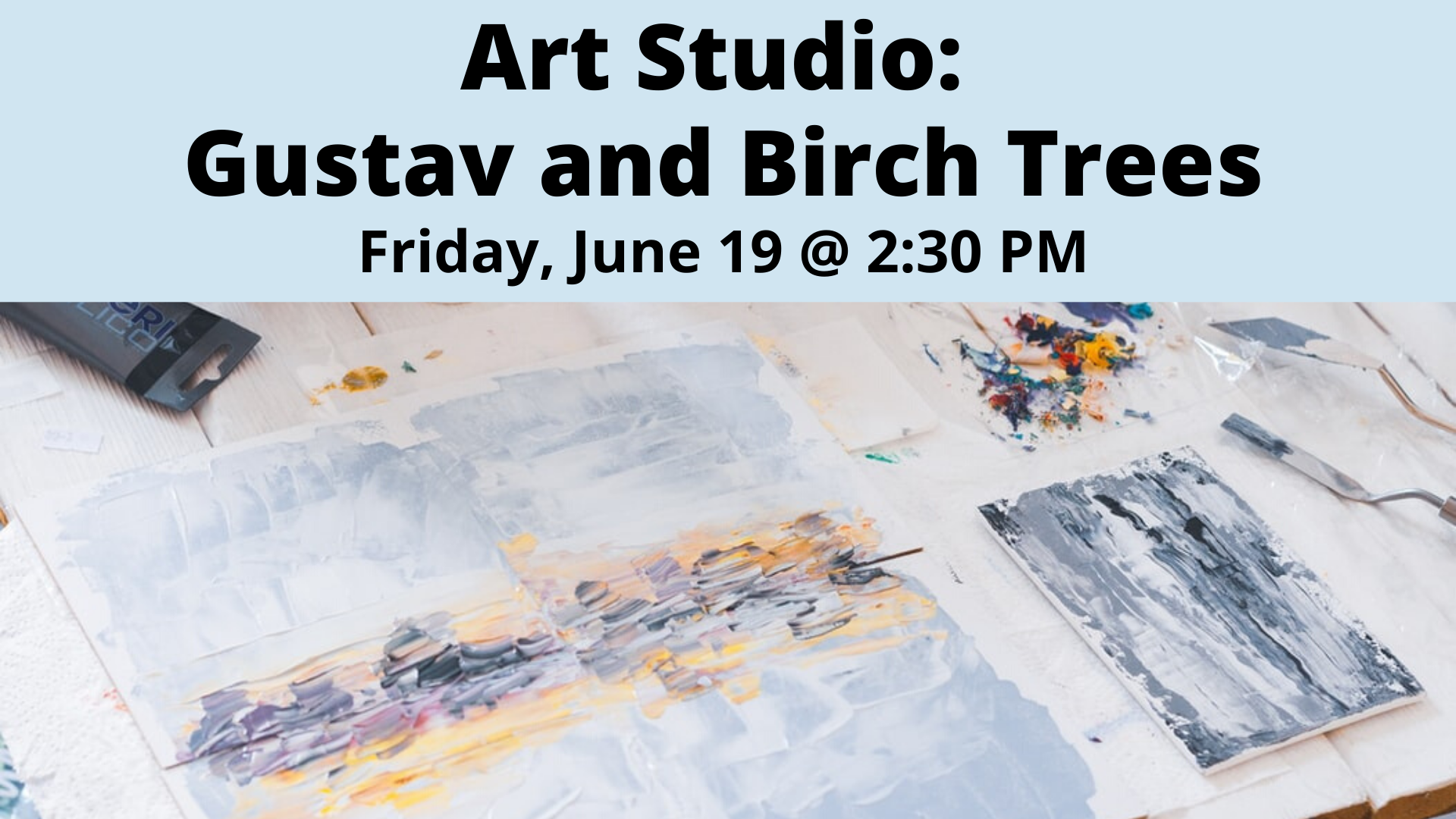 Art Studio: Gustav and Birch Trees