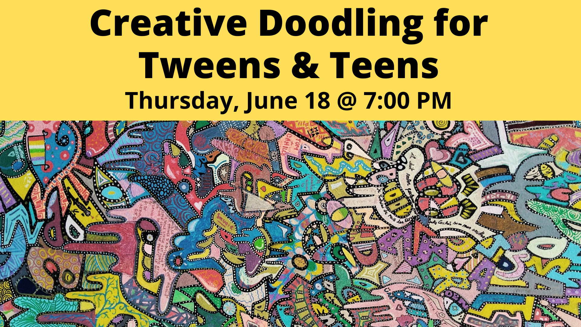 Creative Doodling for Tweens & Teens