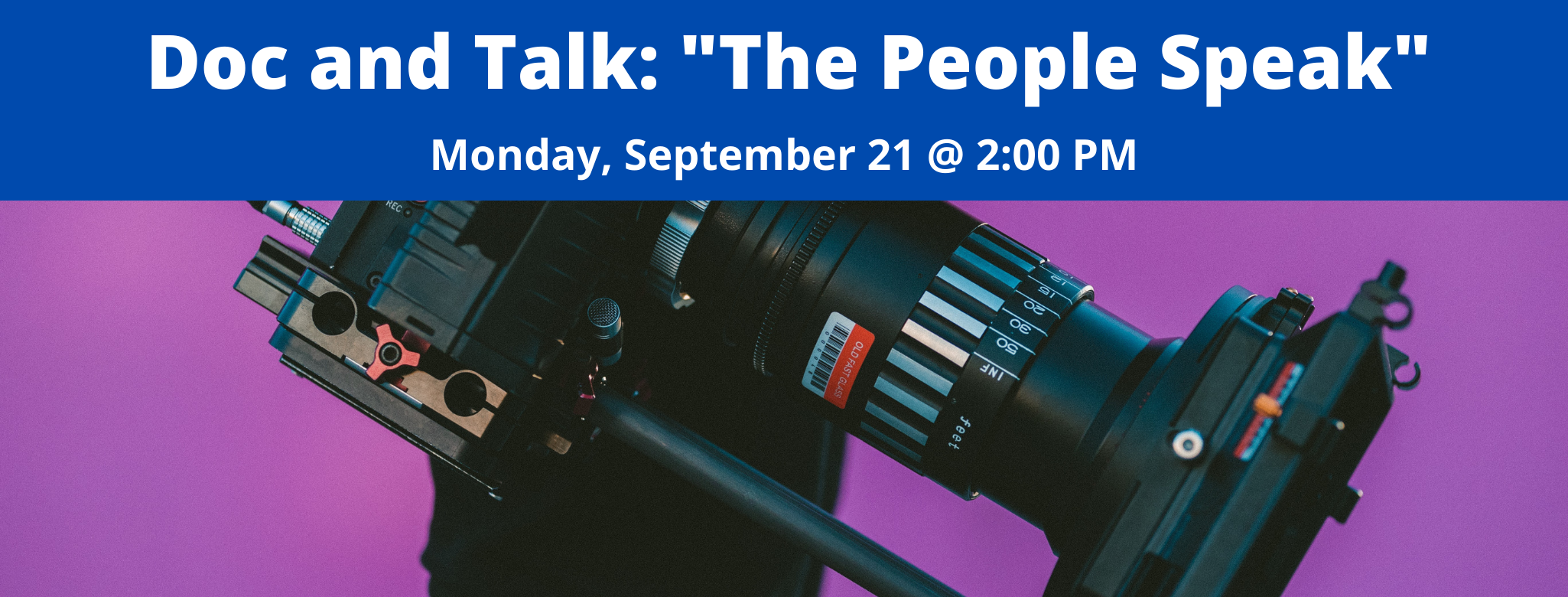 "Doc and Talk: ""The People Speak"""