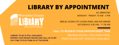 Library by appointment is now available.
